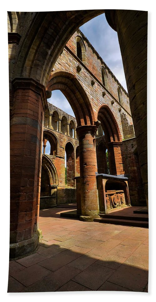 Travel Hand Towel featuring the photograph Lanercost Priory by Louise Heusinkveld