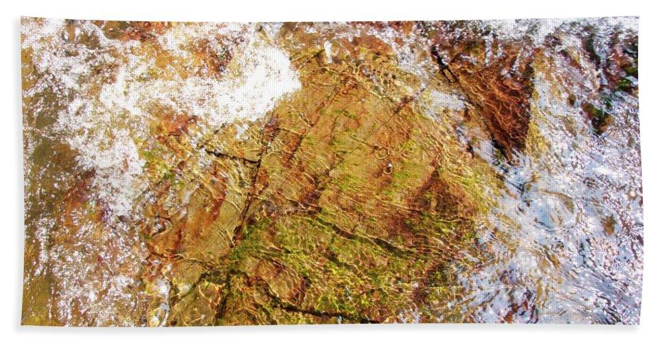 Rocks Bath Sheet featuring the photograph Laplash Falls by Stephen Hunter
