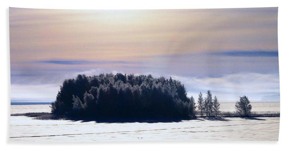 Lehtokukka Bath Sheet featuring the photograph Lappajarvi2 by Jouko Lehto