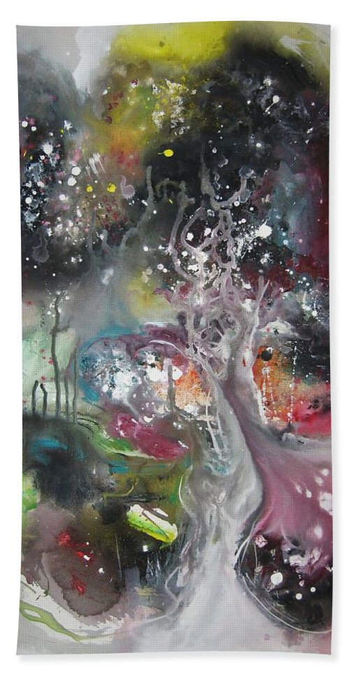 Abstract Art Paintings Bath Sheet featuring the painting Large Color Fever Abstract25-original Abstract Painting by Seon-Jeong Kim