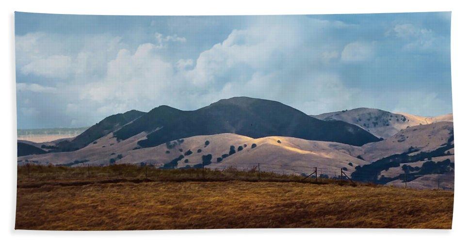 Las Trampas Hand Towel featuring the photograph Las Trampas Hills by Karen W Meyer