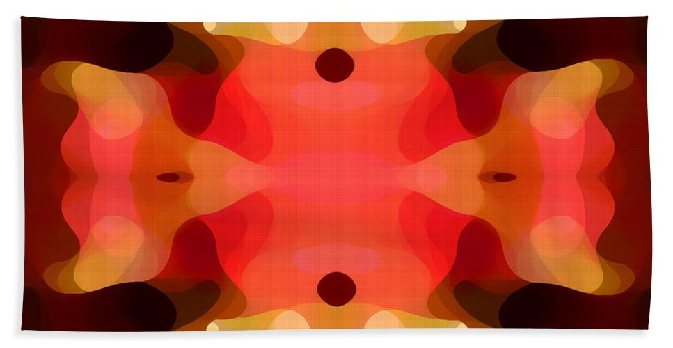 Abstract Painting Bath Towel featuring the digital art Las Tunas Abstract Pattern by Amy Vangsgard