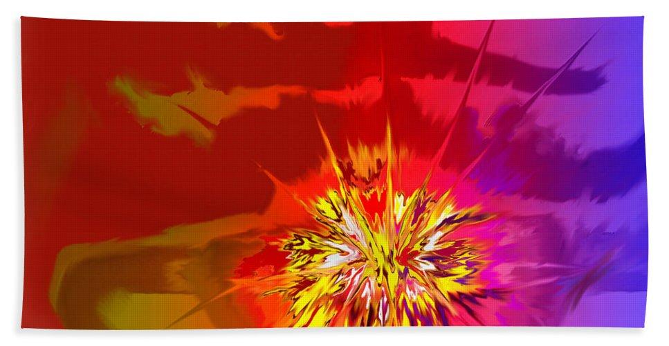 Abstract Bath Sheet featuring the digital art Last Flash by Ian MacDonald