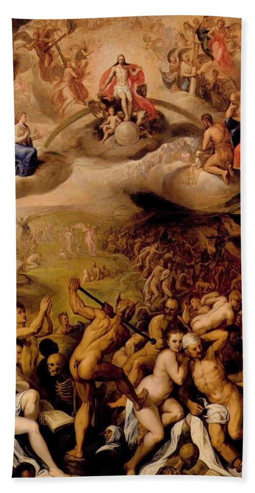 Painting Bath Sheet featuring the painting Last Judgment by Mountain Dreams