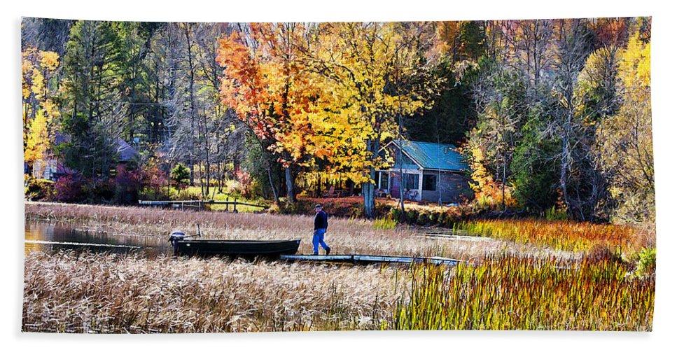 Fall Hand Towel featuring the photograph Last Ride Of The Season by Deborah Benoit