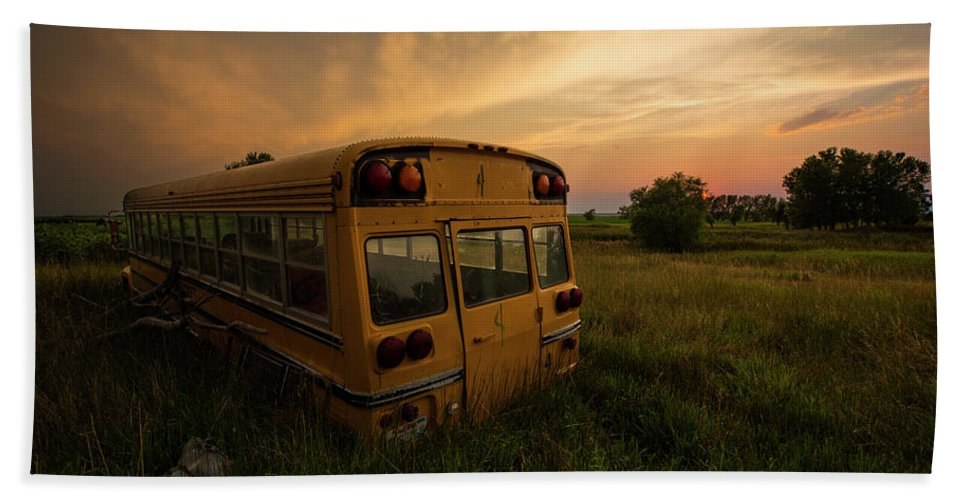 Sunset Hand Towel featuring the photograph Last Stop by Aaron J Groen