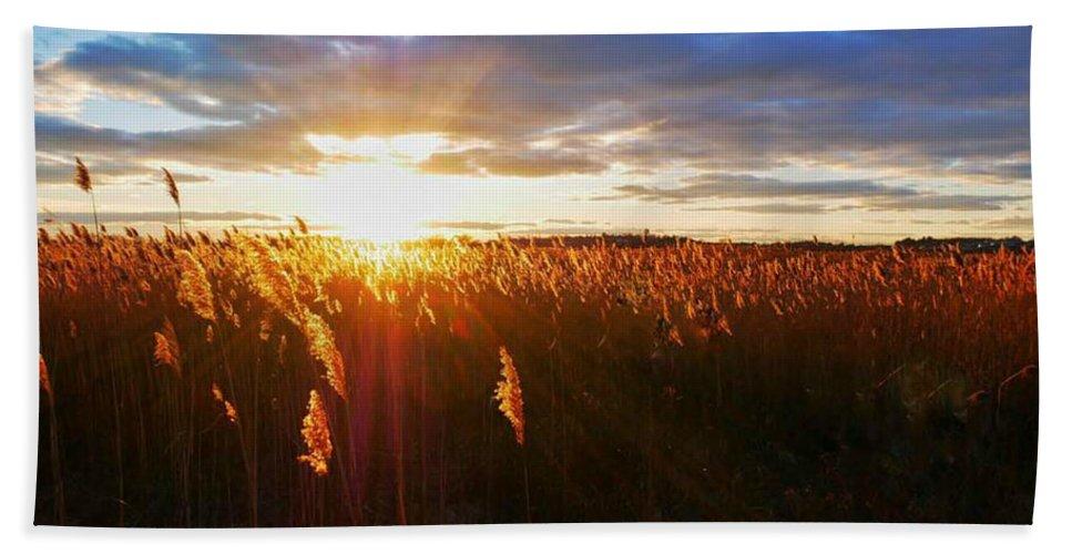 Sunset Bath Sheet featuring the photograph Last Sunset, Plum Island by Karyn Regal