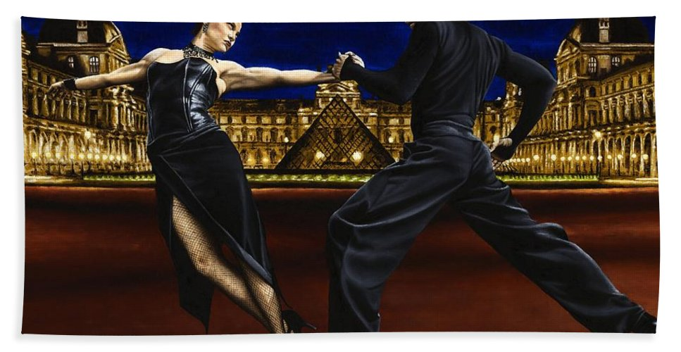 Tango Hand Towel featuring the painting Last Tango In Paris by Richard Young