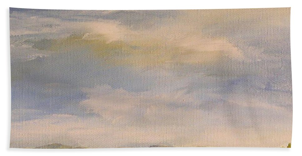 Autumn Hand Towel featuring the painting Late Afternoon In Vermont by Laurie Rohner