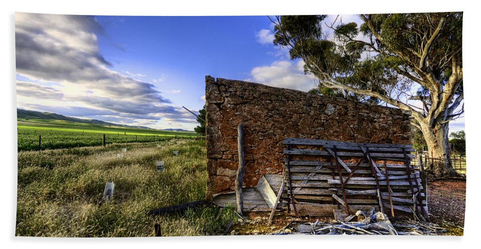 Farm Hand Towel featuring the photograph Late Afternoon by Wayne Sherriff