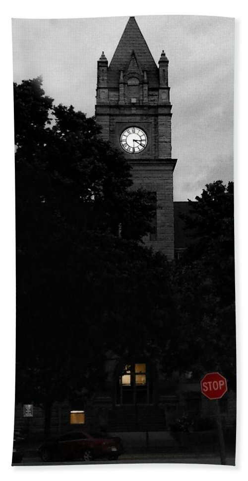 Marion Hand Towel featuring the photograph Late Evening Light Marion Kansas by Michele Carter