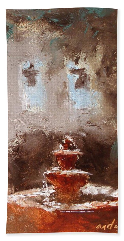 Water Bath Sheet featuring the painting Late Light by Barbara Andolsek