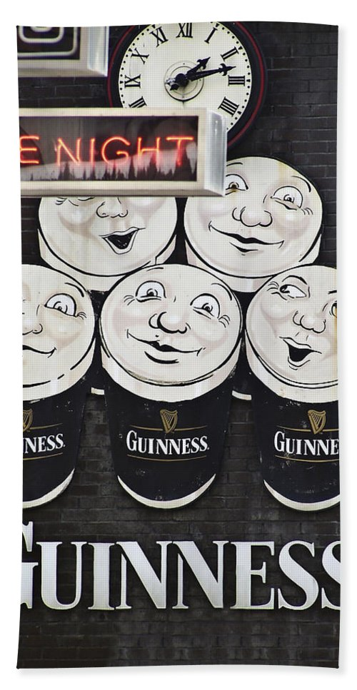 Guinness Hand Towel featuring the photograph Late Night Guinness Limerick Ireland by Teresa Mucha