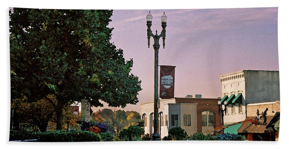 Landscape Bath Towel featuring the photograph Late Sunday Afternoon by Steve Karol