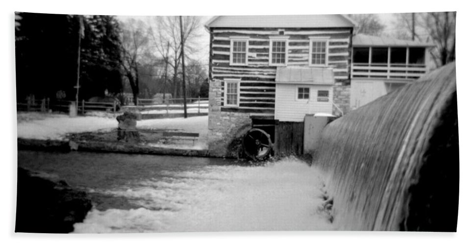 Photograph Bath Sheet featuring the photograph Laughlin Mill by Jean Macaluso