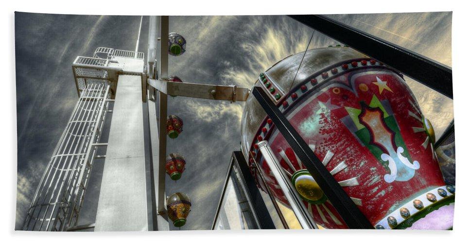 Amusement Bath Sheet featuring the photograph Launch Pad by Wayne Sherriff