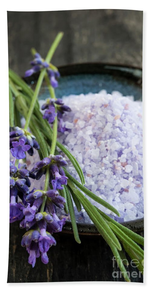 Bath Salts Bath Towel featuring the photograph Lavender Bath Salts by Elena Elisseeva