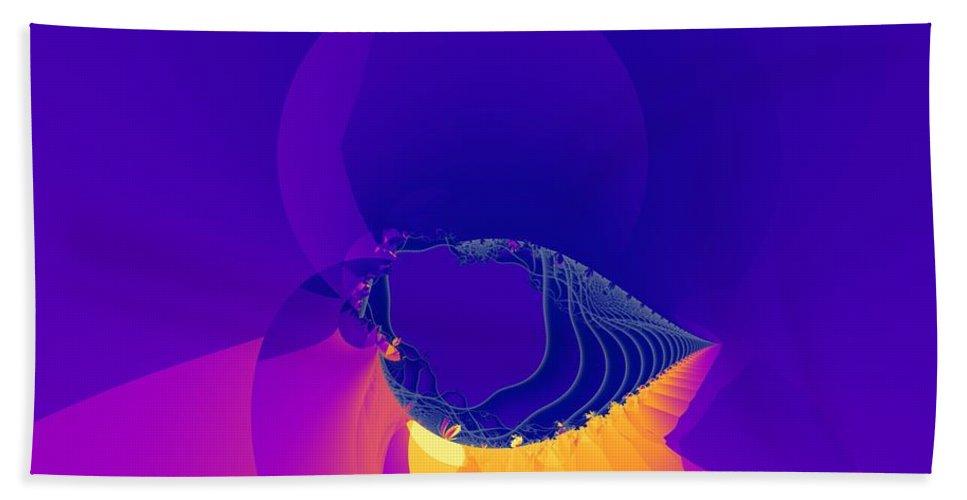 Fractal Art Hand Towel featuring the digital art Lavender Sky by Ron Bissett