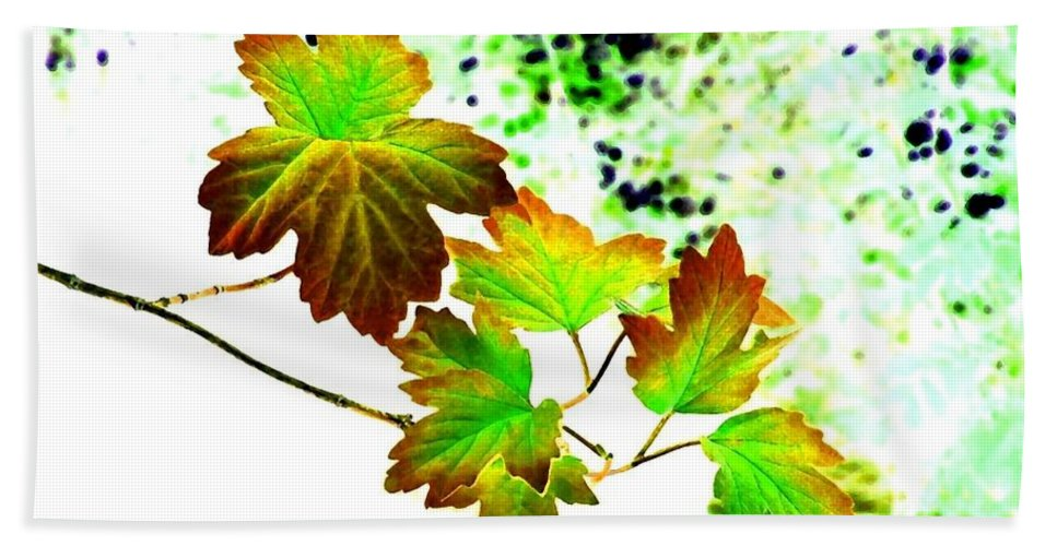 Lavish Leaves Hand Towel featuring the digital art Lavish Leaves 4 by Will Borden