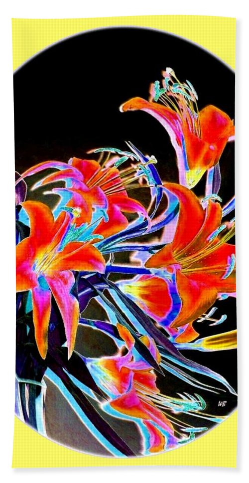 Lilies Hand Towel featuring the digital art Lavish Lilies 2 by Will Borden