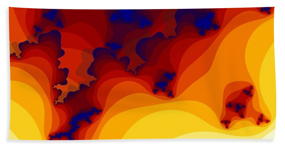 Fractal Art Hand Towel featuring the digital art Layered Gells by Ron Bissett