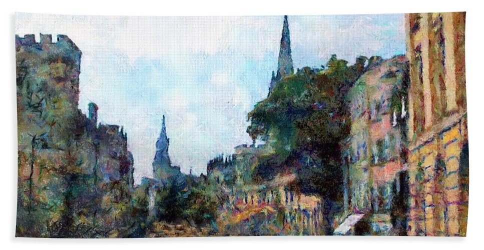 19th Century Hand Towel featuring the painting Le Boulevard Vide by RC DeWinter