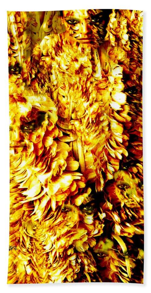 Feathers Bath Sheet featuring the digital art Le Flock by Seth Weaver