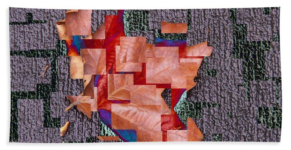 Leaf Bath Towel featuring the photograph Leaf On Stone 2 by Tim Allen