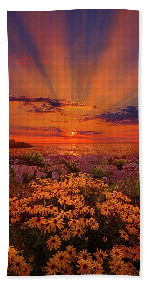 Vertical Bath Sheet featuring the photograph Lean Not On Your Own Understanding by Phil Koch