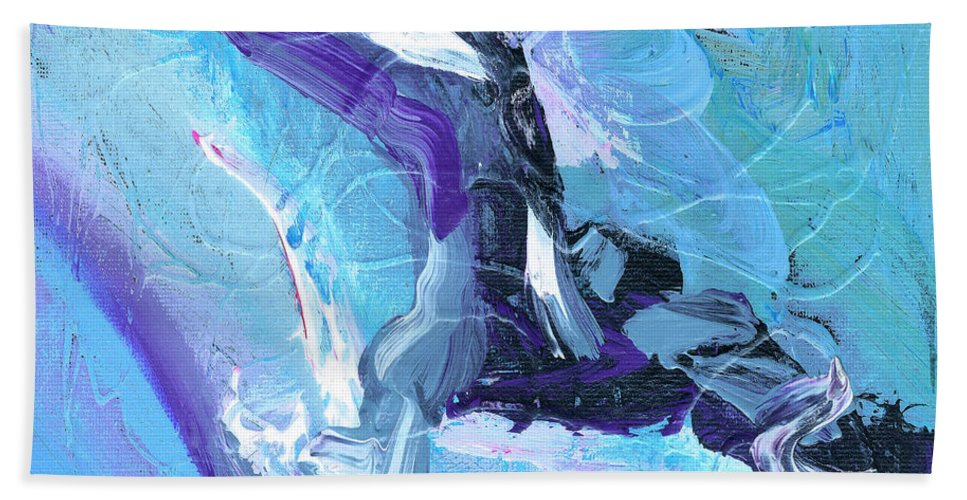Lleap Hand Towel featuring the painting Leap by Dominic Piperata
