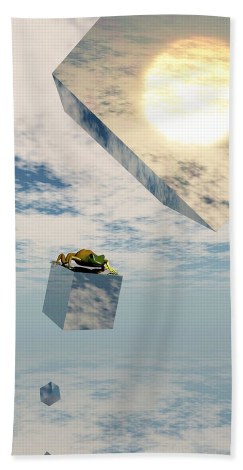 Surrealism Hand Towel featuring the digital art Leaps And Bounds by Richard Rizzo