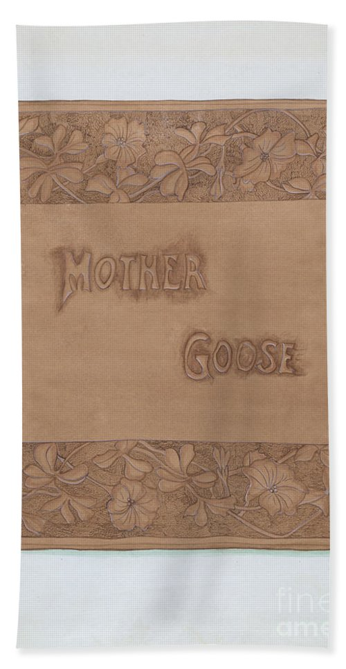 Hand Towel featuring the drawing Leather Book Cover by Vera Van Voris