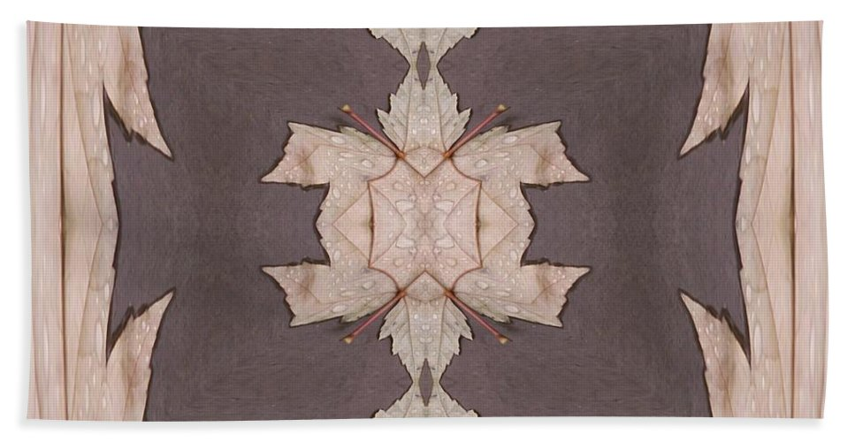Leaves Hand Towel featuring the photograph Leaves And Rain 3 by Tim Allen