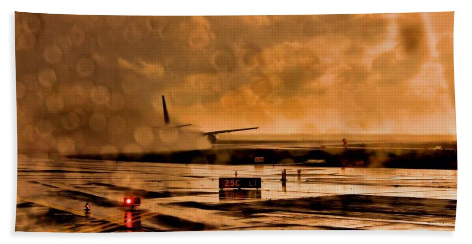 Take Off Hand Towel featuring the photograph Leaving by Martin Michael Pflaum