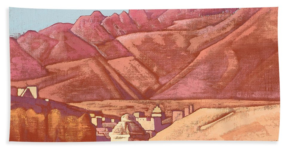 Country Hand Towel featuring the painting Leh, Ladakh by Nicholas Roerich