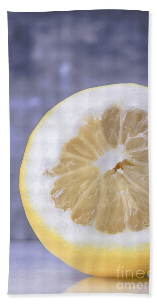 Lemons Hand Towel featuring the photograph Lemon Half by Edward Fielding
