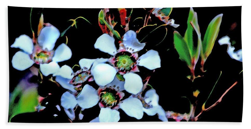 Lemon-scented Bath Sheet featuring the photograph Lemon Scented Tea Tree by Miroslava Jurcik