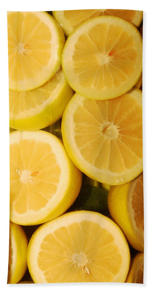 Still Life Bath Sheet featuring the photograph Lemon Still Life by Jill Reger