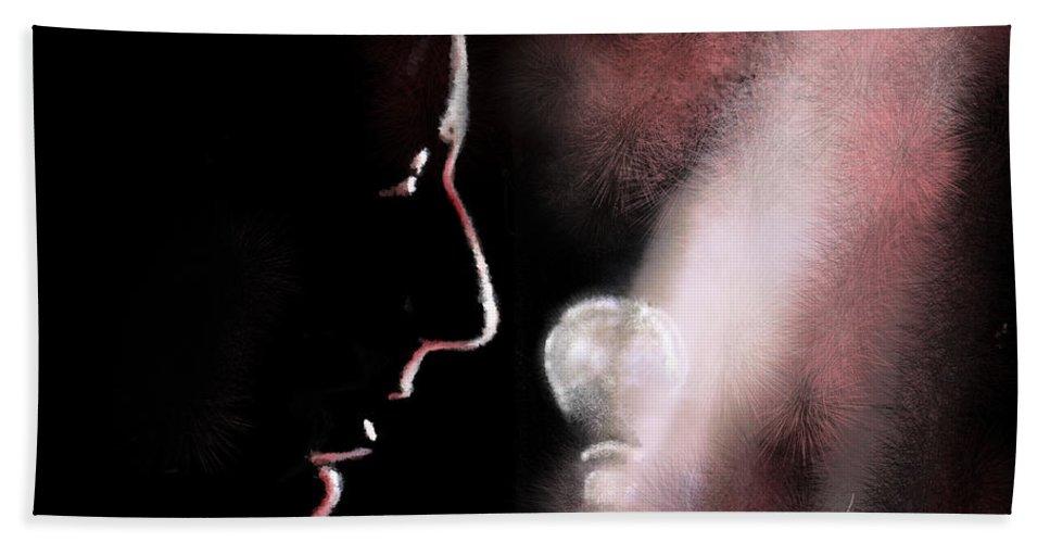 Music Art Hand Towel featuring the digital art Leonard Cohen 01 by Miki De Goodaboom