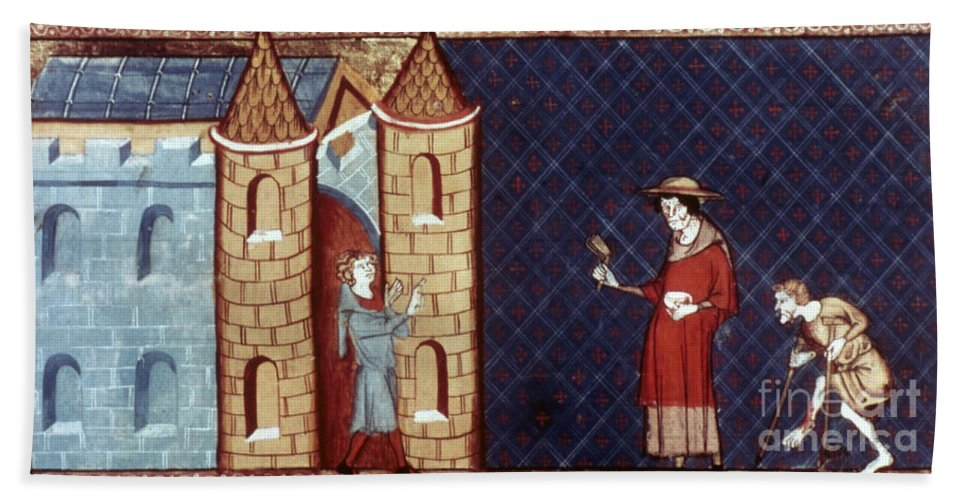 13th Century Hand Towel featuring the photograph Leper House, C1220-1244 by Granger
