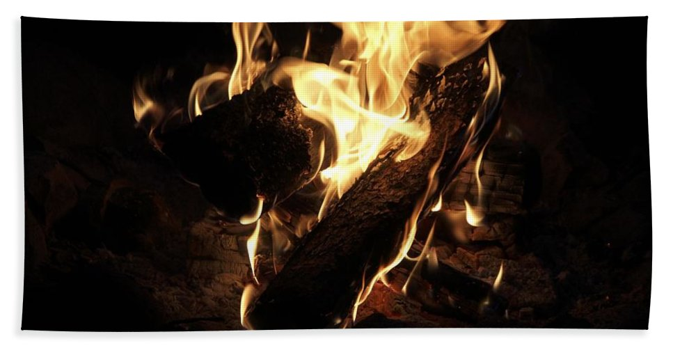 Fire Hand Towel featuring the photograph Let It Burn by Angela Niesz