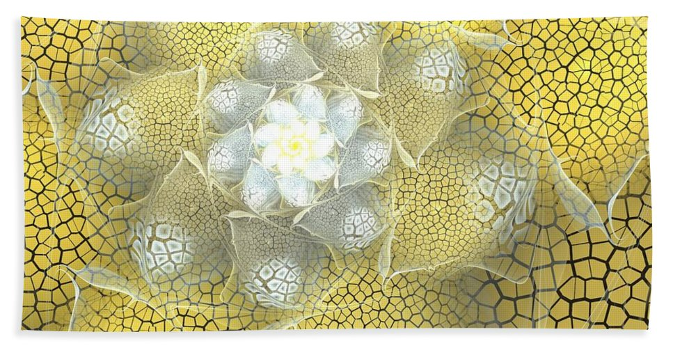 Fractal Bath Sheet featuring the digital art Let The Sunshine by Amorina Ashton