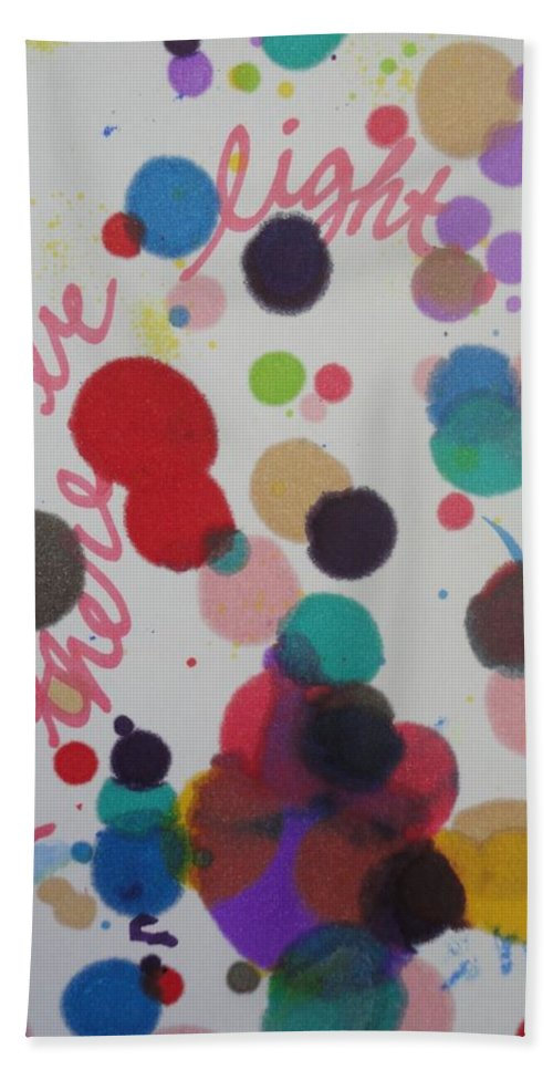 Light Bath Towel featuring the painting Let There Be Light by Vonda Drees