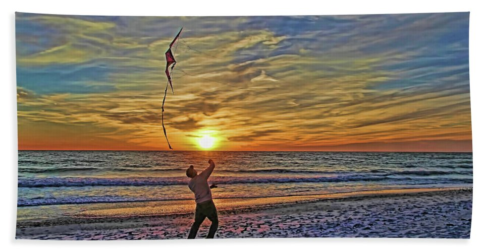 Fly A Kite Bath Towel featuring the photograph Let's Go Fly A Kite by HH Photography of Florida
