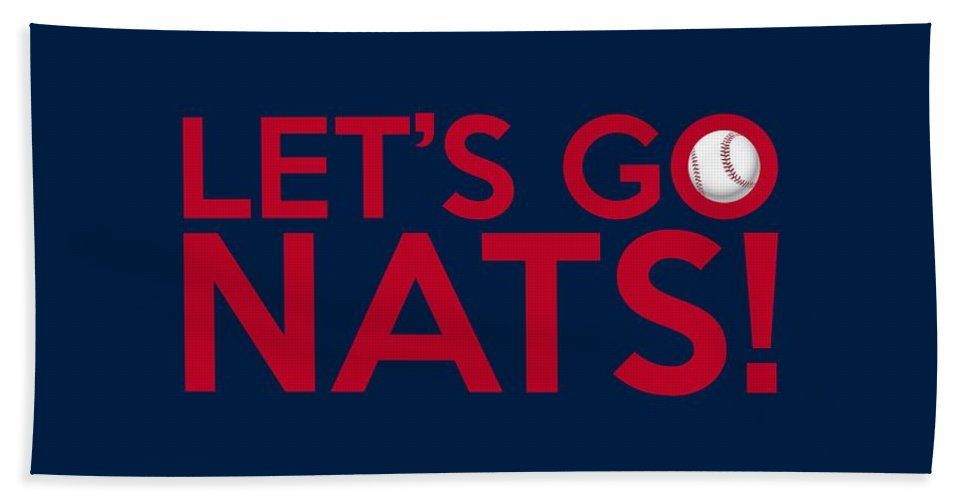 Nats Bath Sheet featuring the painting Let's Go Nats by Florian Rodarte