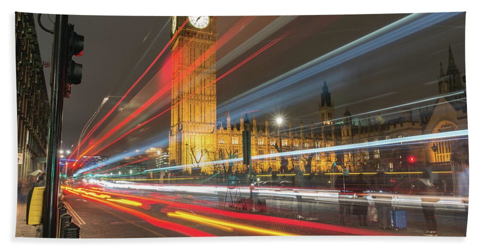 London Bath Sheet featuring the photograph Let's Go Streaking by Christopher Carthern