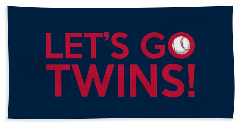Minnesota Twins Bath Sheet featuring the painting Let's Go Twins by Florian Rodarte