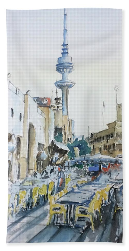 Liberation Tower From Old Souk Kuwait Bath Towel