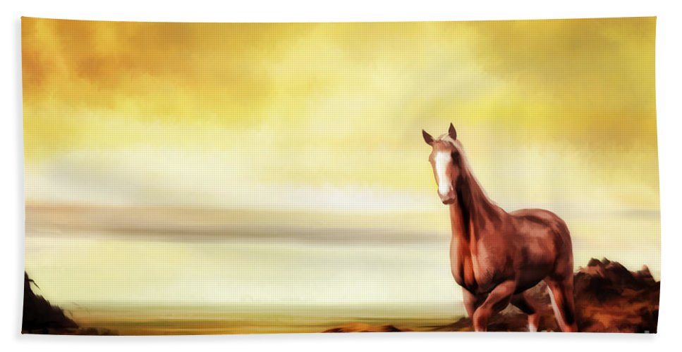 Horse Bath Sheet featuring the digital art Liberty by John Edwards