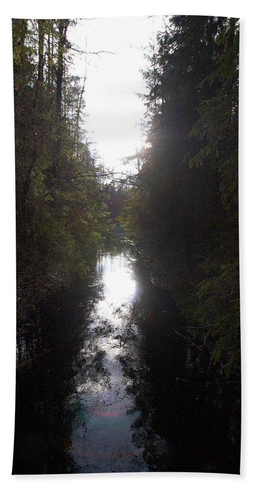 Lehtokukka Bath Sheet featuring the photograph Liesijoki 1 by Jouko Lehto